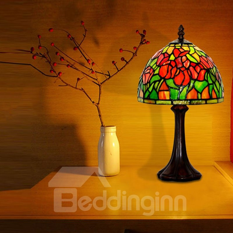 European Style Tiffany Lamp Bedroom and Study Room Decorative Bedside Table Lamp