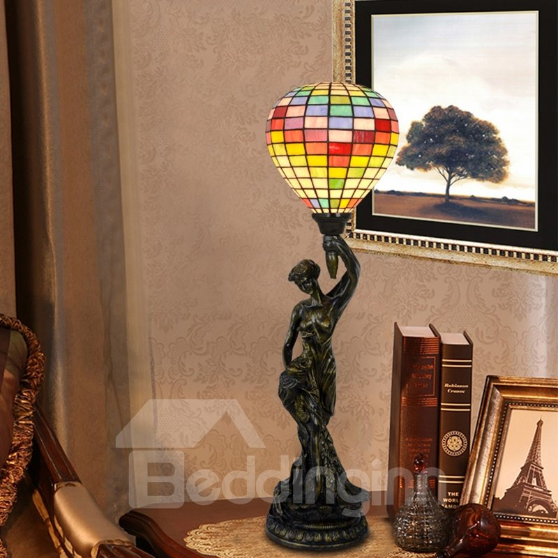 Statue Liberty Decorative Living Room Bedroom Study Tiffany Lamp Pic