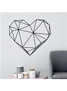 Geometric Love Heart Shape Romantic Decals Wall Sticker