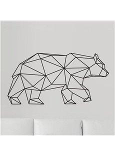 Geometric Bear Wall Sticker Modern Home Decor Vinyl Wall Art
