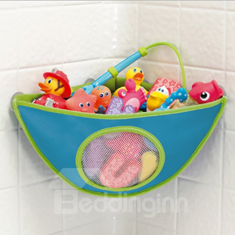 Bath Toy Organizer Bathtub Toys Holder Storage Net Corner Mesh ...