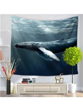 Long Shark Swim through the Ocean Pattern Decorative Hanging Wall Tapestry
