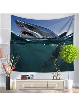 Shark Breath Above the Sea Surface Pattern Decorative Hanging Wall Tapestry