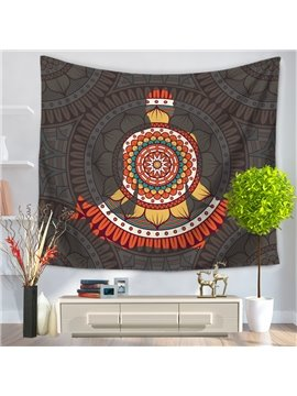 Mandala Pattern with People Figure Exotic Style Decorative Hanging Wall Tapestry