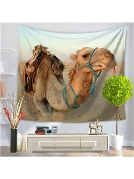 A Desert Camel Loaded by Rope Pattern Decorative Hanging Wall Tapestry