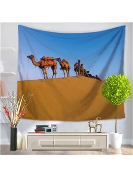 Desert and Plenty of Camels Pattern Decorative Hanging Wall Tapestry