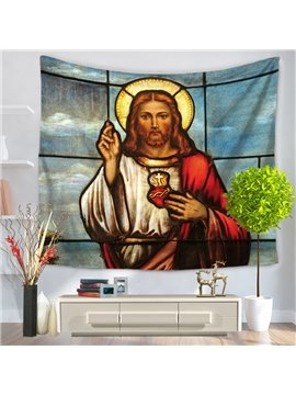 Oil Painting The Son of God Jesus Pattern Decorative Hanging Wall Tapestry