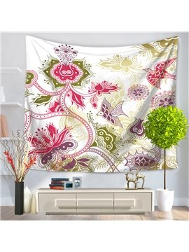 Floral Vines and Two Birds Pattern Decorative Hanging Wall Tapestry