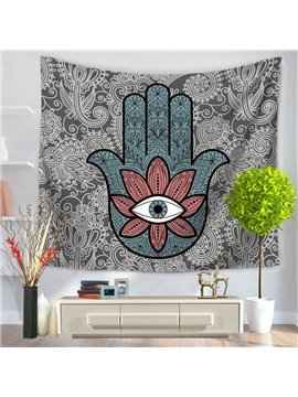 Flower Eye with Palm Pattern Floral Decorative Hanging Wall Tapestry