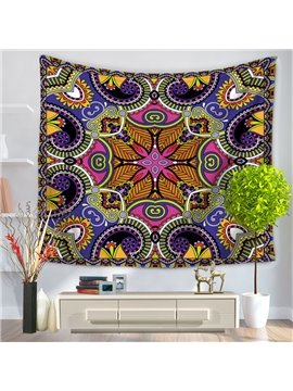 Symmetric Mandala Pattern Exotic Style Decorative Hanging Wall Tapestry