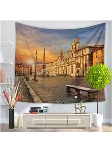 Rome Ancient Street and Castle Pattern Decorative Hanging Wall Tapestry