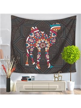 Mandala with Camel Pattern Exotic Style Decorative Hanging Wall Tapestry