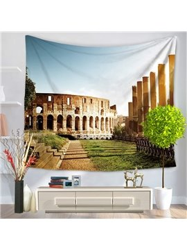 Sunny Day Rome Colosseum Pattern Decorative Hanging Wall Tapestry