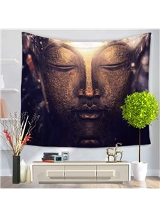 Solemn Figure of Buddha Pattern Religious Style Decorative Hanging Wall Tapestry