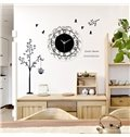 15×15in Black Branches Acrylic Eco-friendly Battery Simple Hanging Wall Clock
