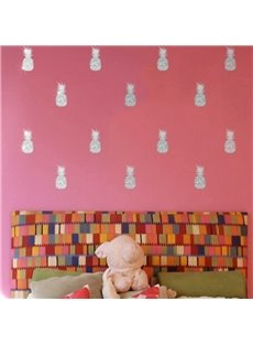 Colorful Pineapple Bronzing Wall Art Fashion Wall Decal Sticker