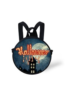 Halloween Night Pattern School Bag Shoulders Backpack