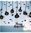 Durable Waterproof Hanging Pumpkin Devils PVC Halloween Kids Room Wall Stickers