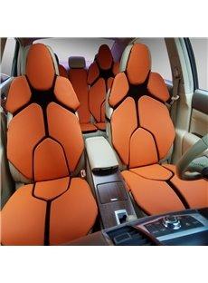 Futuristic Supercar Style Distinctive Orange Universal Car Seat Covers