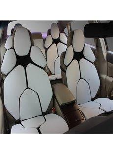 Futuristic Supercar Style Distinctive White Universal Car Seat Covers