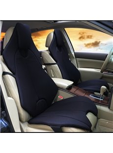 Futuristic Sports Car Style Black Universal Car Seat Covers