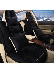 Solid Color Luxury Feather Down Universal Car Seat Covers
