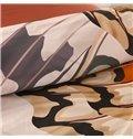 Adorila 60S Brocade Digital Printed Butterflies Vintage Style Cotton 4-Piece Bedding Sets