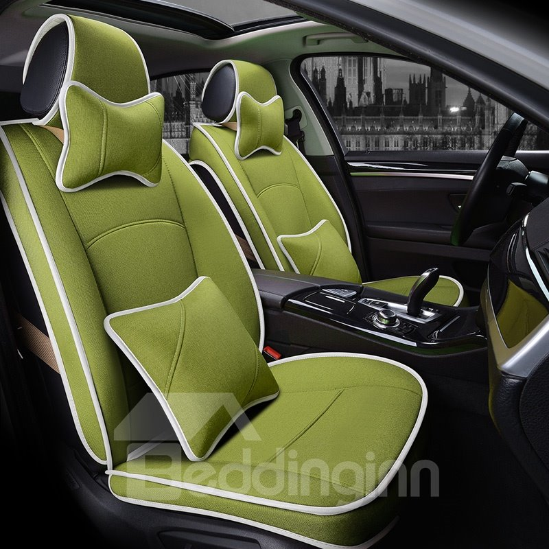 Bright-coloured Pure Color Refreshing Good Breathability Custom Car Seat Covers