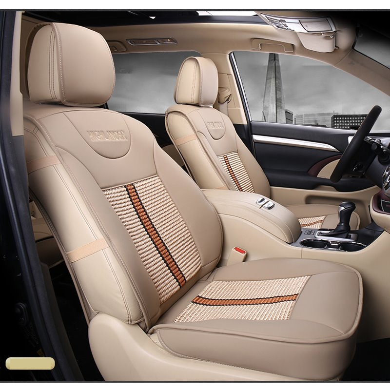 BeddingInn Leather Mixed Knitting Toyota Highlander Seven Seats
