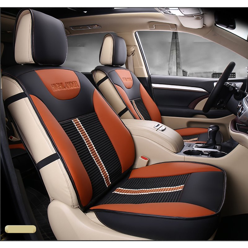 Toyota Seat Covers >> Luxurious High Grade Leather Mixed Knitting 2015 2017 Toyota