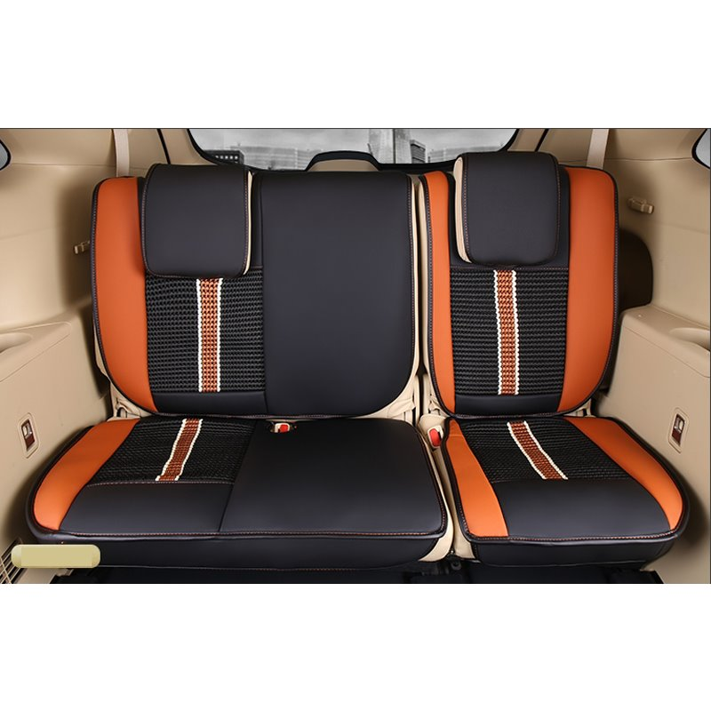 Luxurious High-grade Leather Mixed Knitting 2015-2017 Toyota Highlander Seven Seats Custom Car Seat Covers