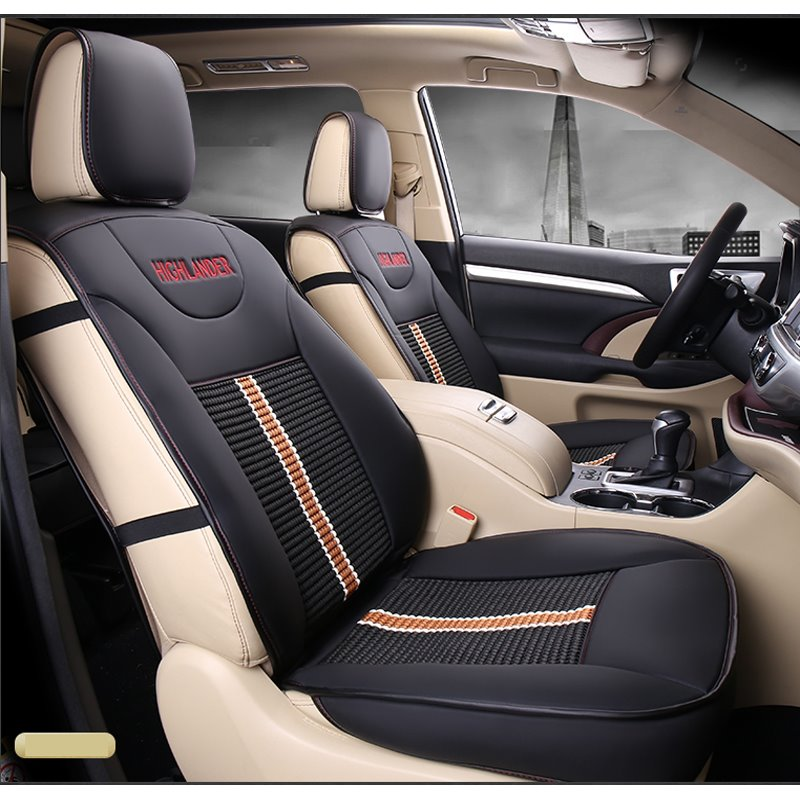 49 Luxurious High Grade Leather Mixed Knitting 2015 2017 Toyota Highlander Seven Seats Custom Car