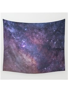 Twinkle Stars and Light Purple Galaxy Space Pattern Decorative Hanging Wall Tapestry