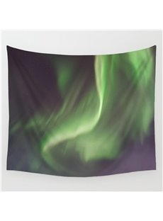 Fuzzy Green Light or Galaxy Stars Pattern Decorative Hanging Wall Tapestry