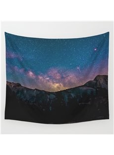 Galaxy Twinkle Stars Dark Night Pattern Decorative Hanging Wall Tapestry