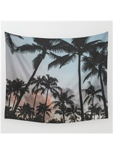 Sandbeach Coconut Tree Pattern Decorative Hanging Wall Tapestry