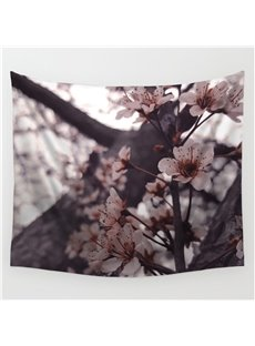 Sakura Blossom and Tree Trunk Pattern Decorative Hanging Wall Tapestry
