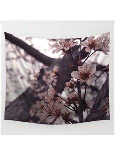 Sakura Blossom and Tree Trunk Pattern Decorative Hanging Wall Tapestry