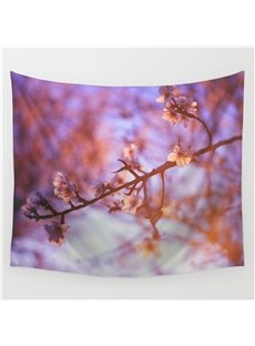 Blurry Branches of Flowers Pattern Decorative Hanging Wall Tapestry