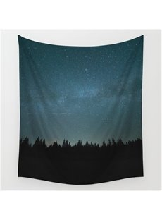 Peaceful Forest and Galaxy Space Pattern Decorative Hanging Wall Tapestry