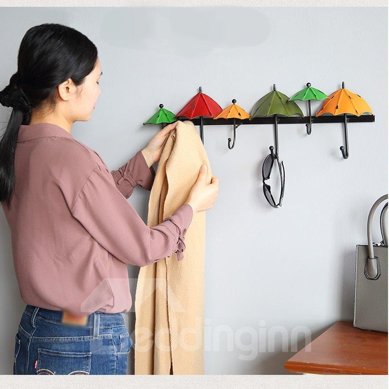 Colorful umbrella design high quality home decor wall hook for Quality home decor