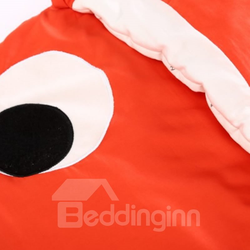 Clown Fish Shape Cotton 1-Piece Orange and White Baby Sleeping Bag