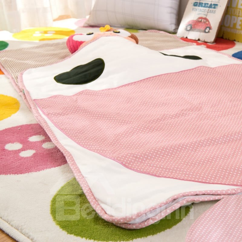 Whale Shape Cotton 1-Piece Pink Baby Sleeping Bag