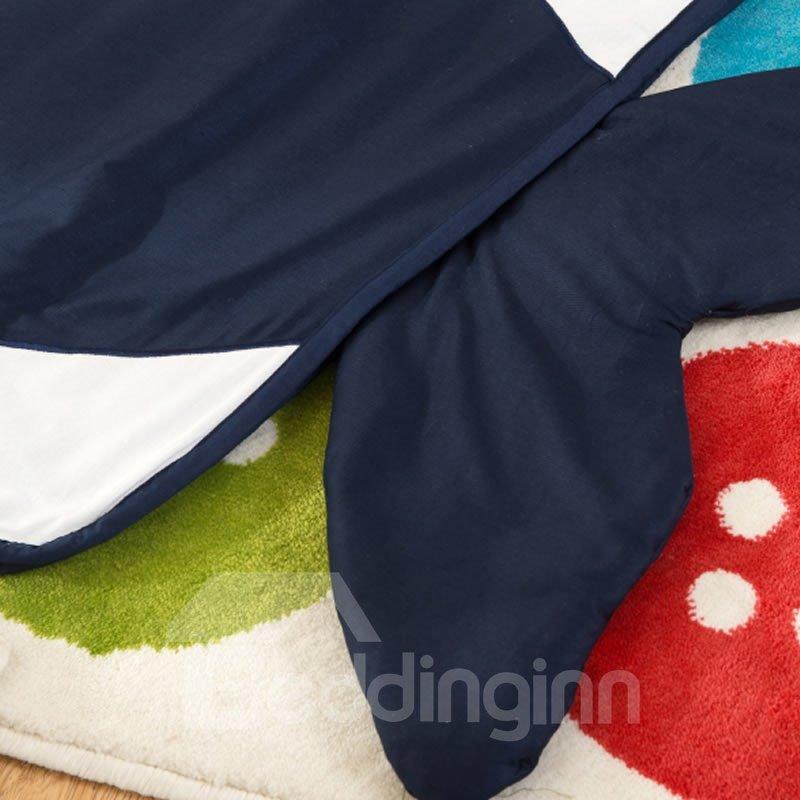 Whale Shape Cotton 1-Piece Dark Blue Baby Sleeping Bag