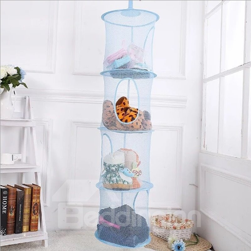 Mesh Hanging Storage With 4 Compartments Toy Hanging Storage Organizer ...