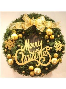 Holiday Joy Ornament Pinecones Berries Merry Christmas 50cm Wreath