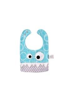 10.23*7.09in Eyes Decoration Cute Cotton Blue Baby Bib