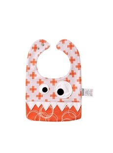 10.23*7.09 in Eyes Decoration Cute Cotton Orange Baby Bib