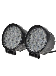 2 pcs 42W 60 Degree Round LED Flood/Spot Light Off Road Lighting