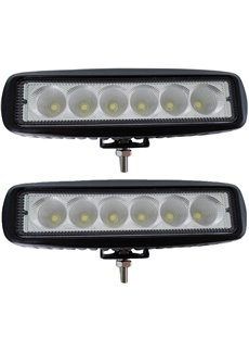 2pcs 18W Spot/Flood Led Bar Driving Fog Lights Off-road Lighting